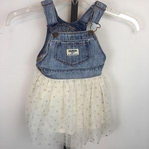 Oshkosh Vestbak Denim Overalls Dress Girls 18 Mo